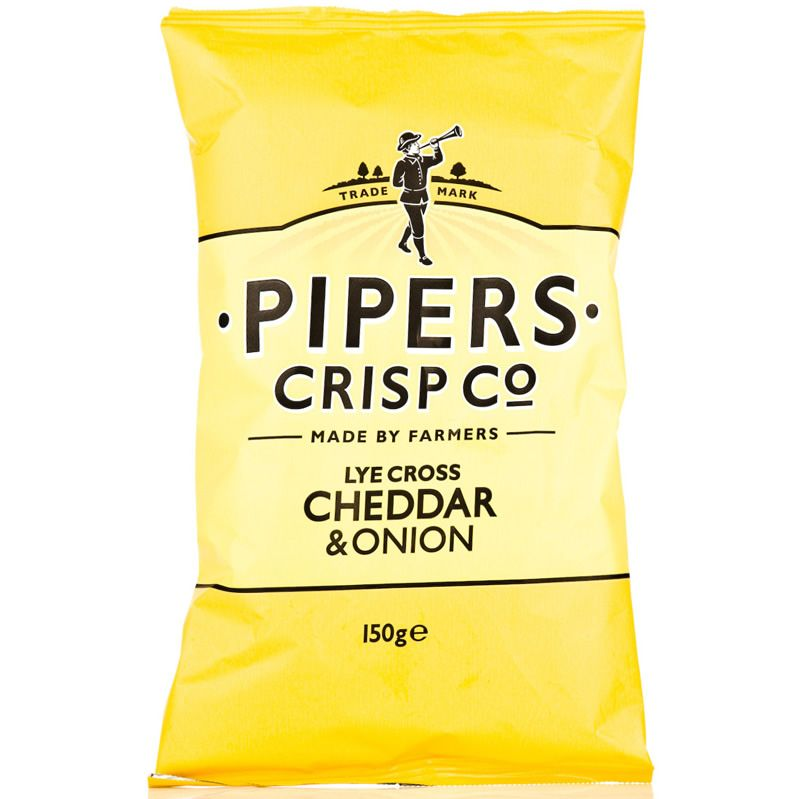 Pipers Cheddar & Onion Crisps-150g