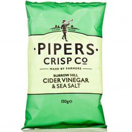 Pipers Salt & Cider Vinegar Crisps - 150g