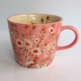 Gisela Graham Mug Pink Wild Daisy