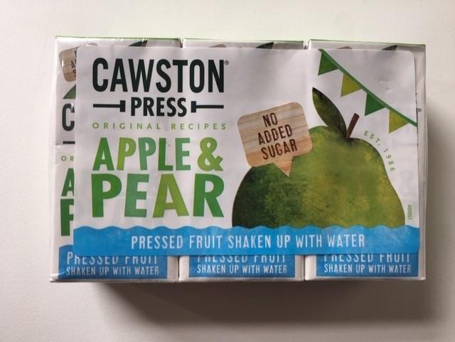 Cawston Press Apple and Pear Juice Cartons   3x 200ml