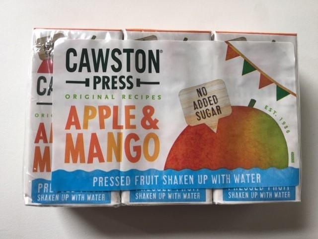 Cawston Press Apple and Mango Juice Cartons   3x 200ml