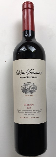 Nieto Don Nicanor Malbec, 2018