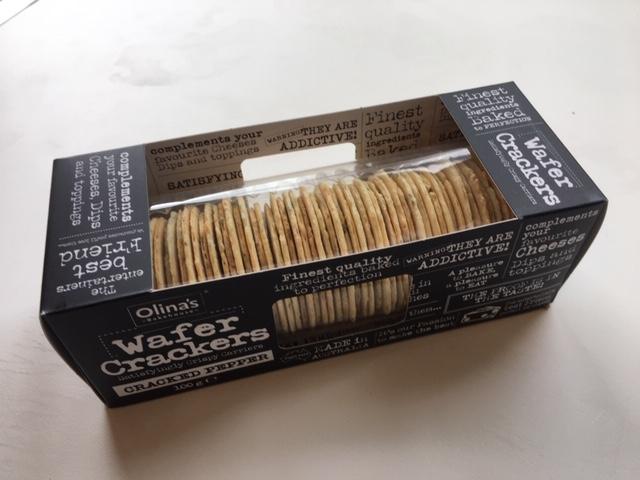 Olina Cracked Pepper Crackers