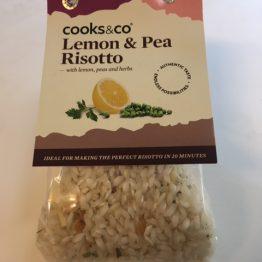 COOKS & Co. LEMON AND PEA RISOTTO.