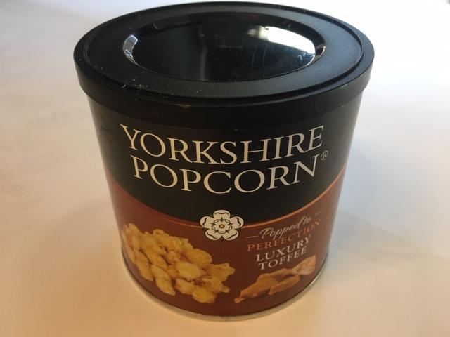 Yorkshire Popcorn Drum Luxury Toffee