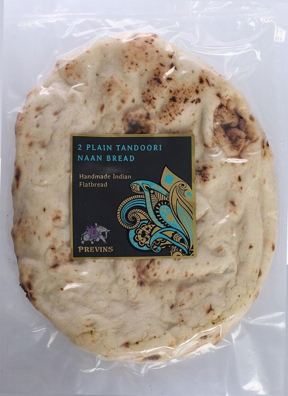 Previns 2 Plain Tandoori Naan Breads