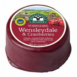 Wensleydale with Cranberries Truckle 200g