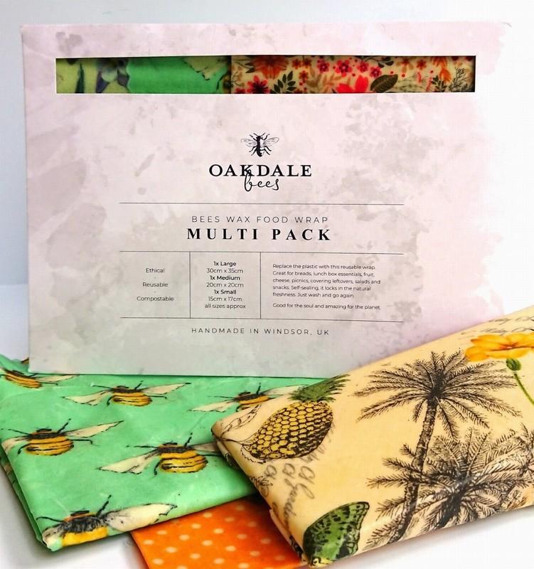 Oakdale Bees Wax Food Wrap Multi Pack