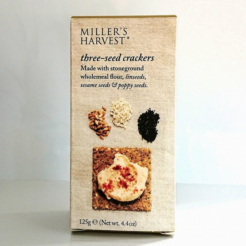 Miller's Harvest Three-Seed Crackers 125g