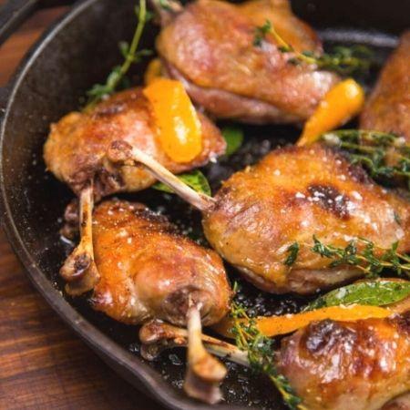 Confit Duck Legs With Orange Glaze