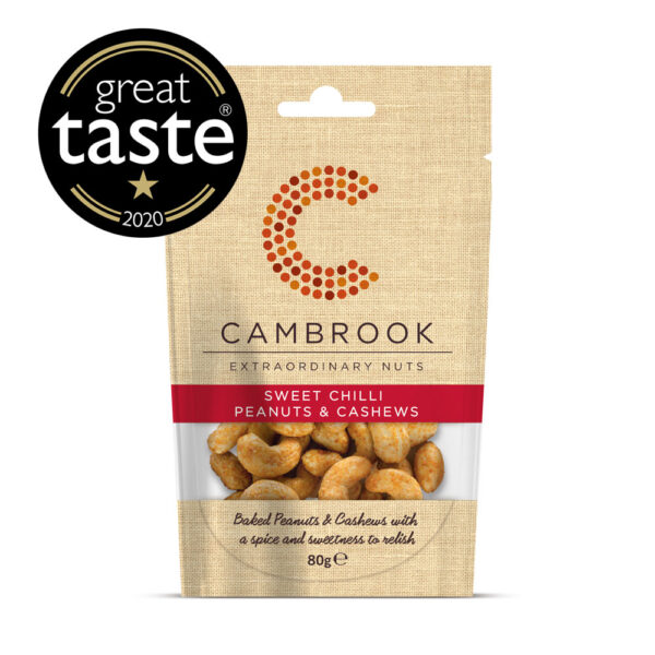 Cambrook Sweet Chilli Peanuts And Cashews