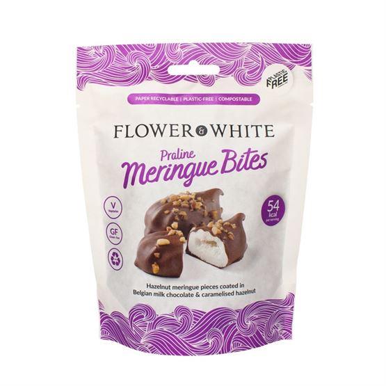 Flower And White Meringue Praline Bites