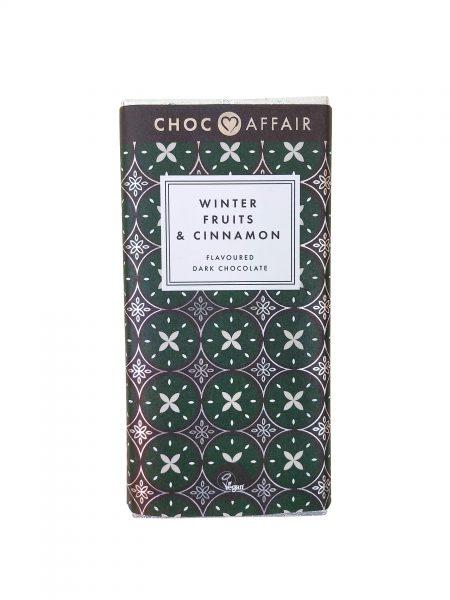 Choc Affairs Winter Fruita and Cinnamon Dark Chocolate Bar