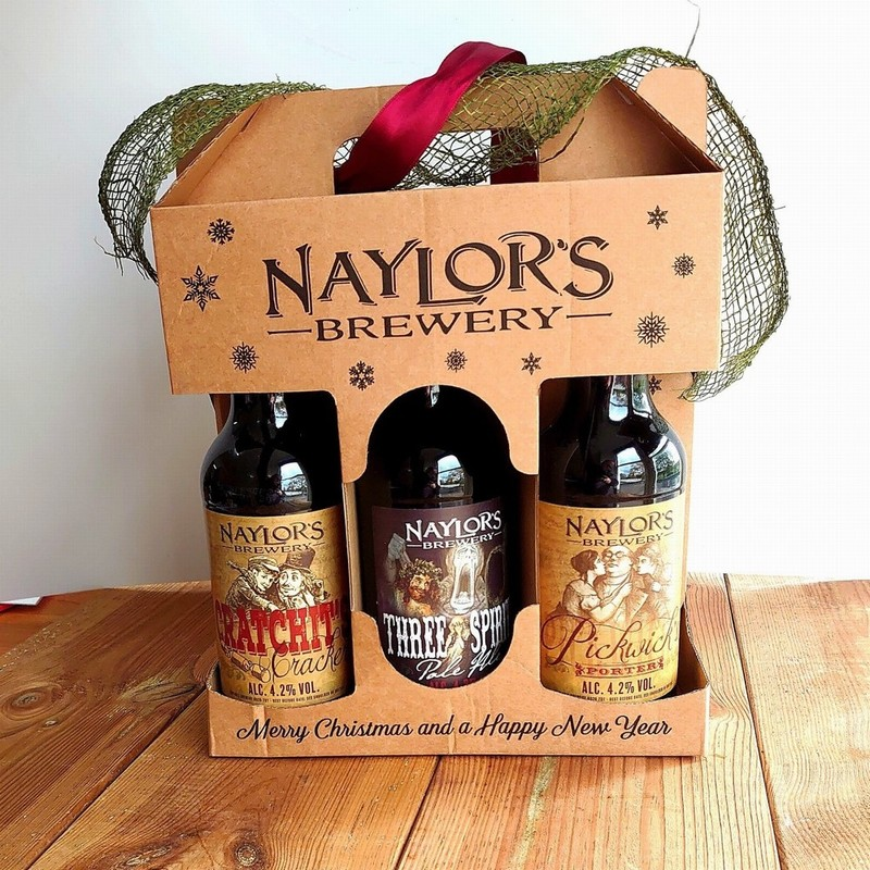 Naylor's Brewery 3 Bottle Christmas Gift Box