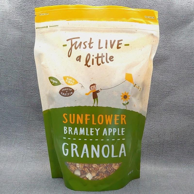 Just Live a Little Sun flower Bramley Apple Granola