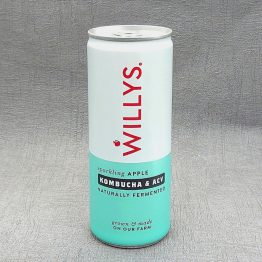 Willy's Sparkling Apple Energy Drink With Kombucha and ACV