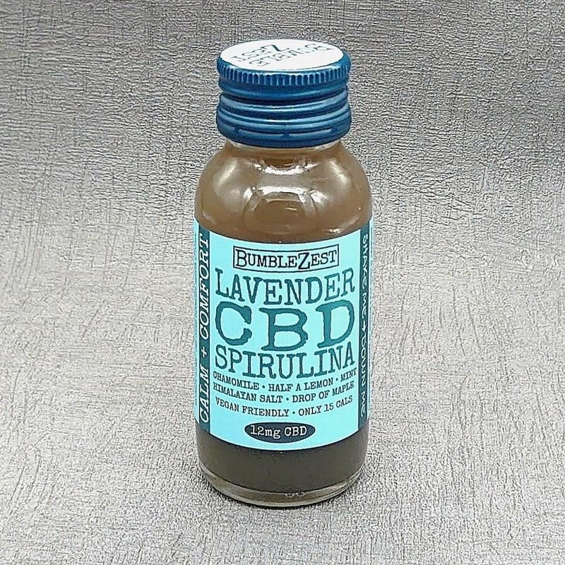 BumbleZest Lavender CBD Spirulina Shot