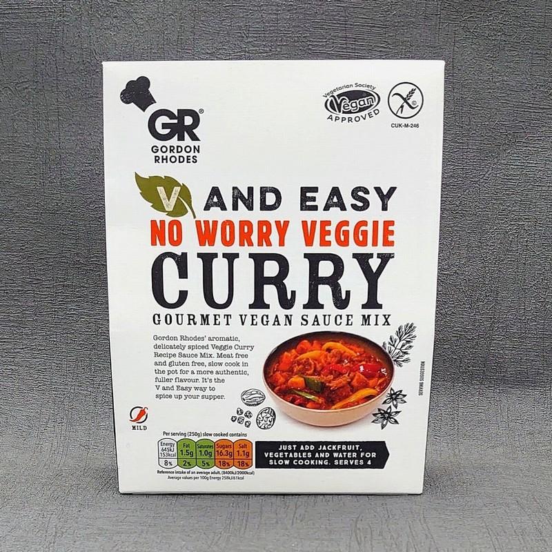 Gordon Rhodes Vegan and Easy No Worry Veggie Curry Mix