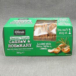 Olina's Cashew and Rosemary Crackers