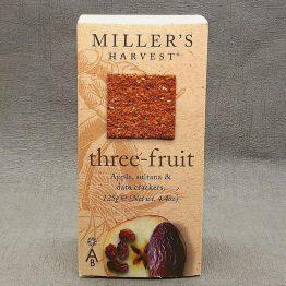 Miller's Harvest Three-Fruit Crackers 125g