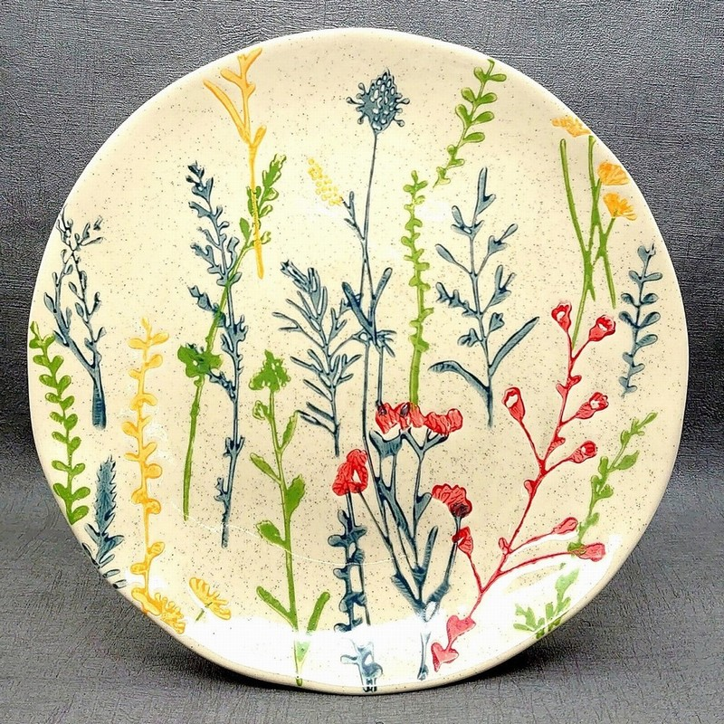 Gisela Graham Meadow Ceramic Plate