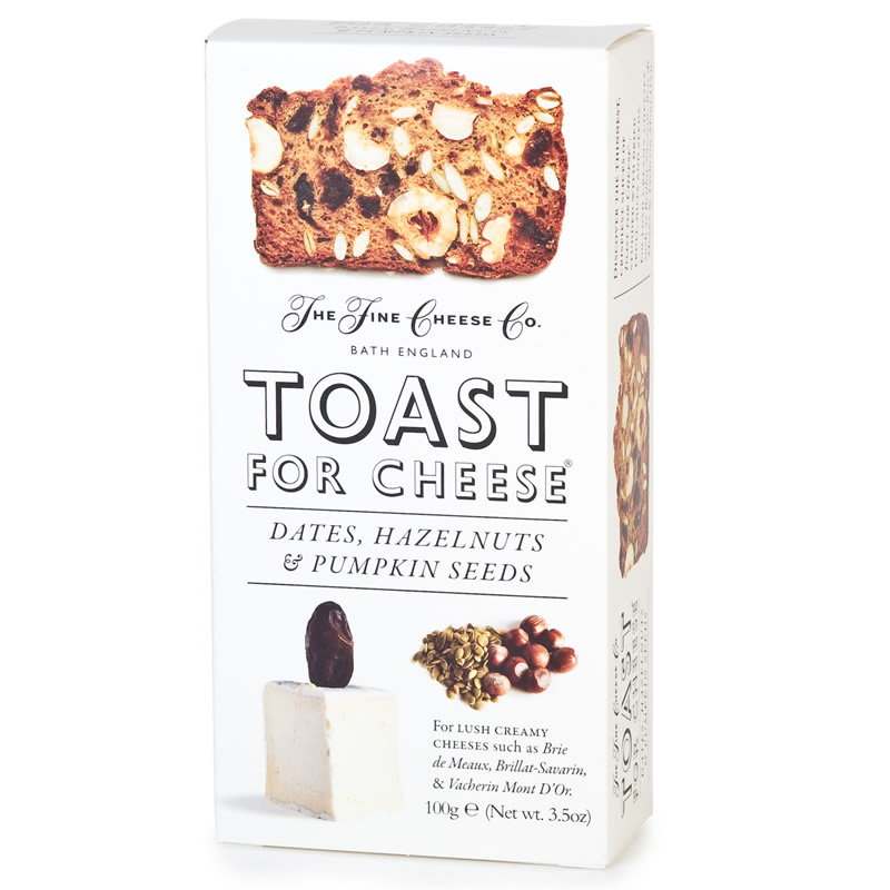 Toast for Cheese Date, Hazlenut and Pumpkin