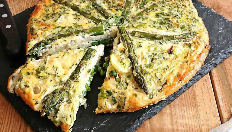 Asparagus, Garden Pea and New Potato Fritatta