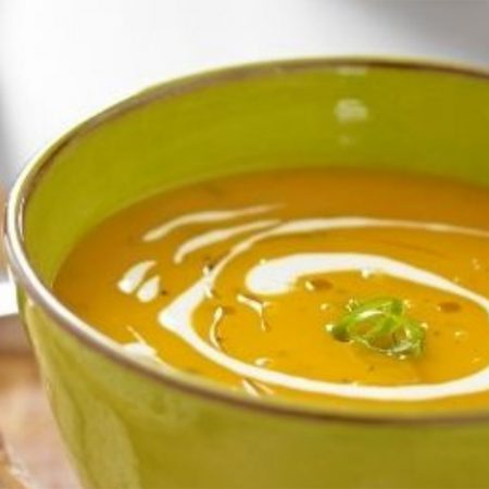 Roasted Butternut Squash, Sage & Goats Cheese Soup